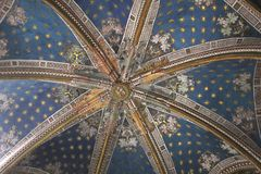 Decorated ceiling in St Mary Cathedral, Toledo, Sp Stock Image
