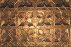 Decorated ceiling, St Mary Cathedral,Toledo,Spain Royalty Free Stock Photo