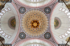 Decorated ceiling of Suleymaniye Mosque, Istanbul, Turkey Stock Images