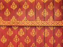 Decorated ceiling of temple. In Champasak Province, Laos Stock Photo