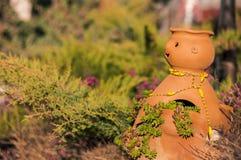 Decorated ceramic pot Stock Photo