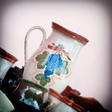 Decorated ceramic pottery for sale Stock Images