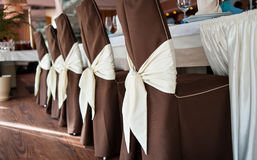Decorated chairs on a holiday Stock Images
