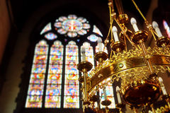 Free Decorated Chandelier In Church Saint Walburga Stock Photos - 58644363