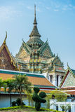 Decorated chedi rooftop Wat Pho temple bangkok Thailand Stock Images