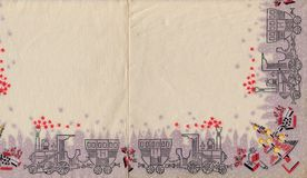 Decorated childish wrapping paper. Christmas vintage shabby background Royalty Free Stock Photography