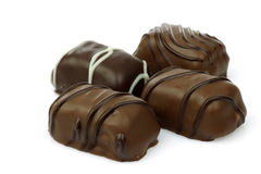 Decorated chocolate bonbons Royalty Free Stock Photography