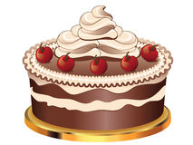 Decorated Chocolate Cake Stock Images