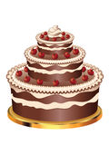 Decorated Chocolate Cake Royalty Free Stock Images