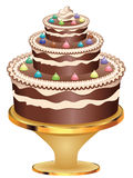 Decorated Chocolate Cake Royalty Free Stock Image
