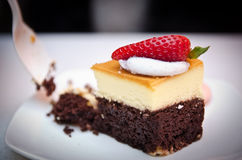 Decorated Chocolate and Cheese Cake Stock Photos