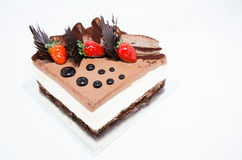 Decorated Chocolate and Cheese Cake Royalty Free Stock Photo