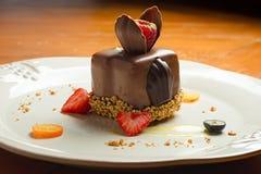 Decorated chocolate dessert Stock Photography