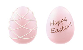 Decorated chocolate eggs - white and pink. Royalty Free Stock Photography