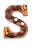 Decorated Chocolate letter S for Sinterklaas Stock Photography