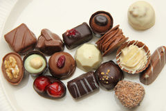 Decorated chocolates Royalty Free Stock Photos