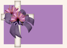 Decorated Christian Cross Background. This is perfectly designed for a business card, greeting card or note card. It is designed with a cream colored Christian vector illustration