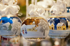 Decorated christmas ball Royalty Free Stock Images