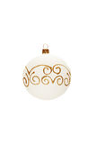 Decorated Christmas ball Royalty Free Stock Image