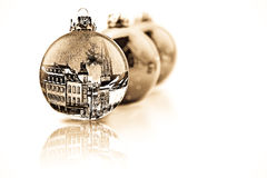 Decorated Christmas baubles Royalty Free Stock Photography