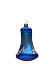 Decorated Christmas bell stock photo