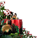Decorated Christmas candles Stock Image