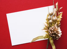 Decorated Christmas card  Royalty Free Stock Photo