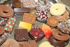 Decorated Christmas chocolates Royalty Free Stock Photo