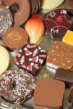 Decorated Christmas chocolates Royalty Free Stock Photo