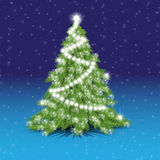 The decorated Christmas Christmas tree Royalty Free Stock Photography