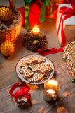 Decorated Christmas cookies Royalty Free Stock Image