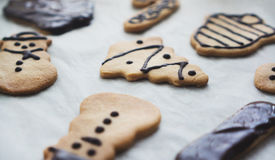Decorated Christmas cookies Royalty Free Stock Photography