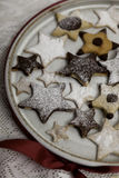 Decorated Christmas cookies with icing Royalty Free Stock Photo