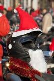 Decorated Christmas the crash helmet Stock Photos