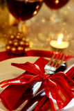 Decorated Christmas Dinner Table. Setting Stock Photography