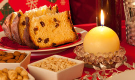 Decorated Christmas Dinner Table Setting Stock Photos