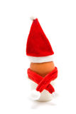 Decorated christmas egg in holder Royalty Free Stock Image