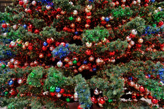 Decorated Christmas fir Stock Photo