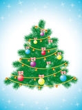 Decorated Christmas Fir Tree Stock Images