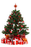 Decorated Christmas fir tree Stock Image