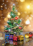 Decorated Christmas fir tree Royalty Free Stock Photography