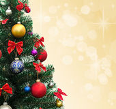 Decorated Christmas fir-tree Stock Photography