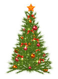 Decorated Christmas Fir Tree. Christmas fir tree with decorations Stock Photography