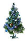 Decorated christmas fir tree isolated Royalty Free Stock Photo