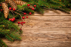 Decorated Christmas fir tree Royalty Free Stock Photos