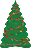 The decorated christmas fur-tree. The drawing decorated christmas fur-tree Royalty Free Stock Photo