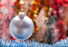 Decorated Christmas Garland with balls Stock Photography