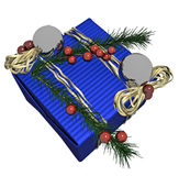 Decorated Christmas Gift Box Stock Images