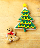 Decorated christmas gingerbread Stock Images