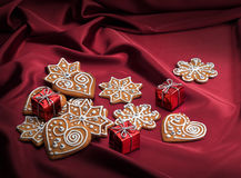 Decorated Christmas gingerbreads Stock Photo